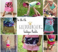 Freebook goldiges Röckle - Kinderrock 86 - 176