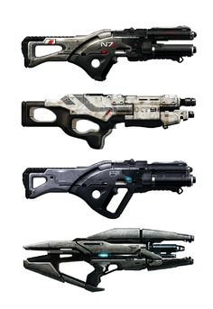 Spade's Sketch Book, monkeydseehr: Weaponry - Mass Effect[◼]