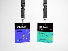 Dad Accreditations by Aleksandra Savic Name Tag Design, Id Card Design, Id Design, Badge Design, Identity Card Design, Branding Design, Typography Logo, Logos, Conference Badges