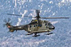 Swiss Super Puma with Skis Military Helicopter, Military Aircraft, Swiss Air, Airplanes, Switzerland, Air Force, Skiing, Fighter Jets, Aviation