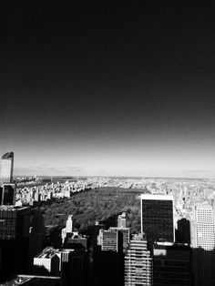 View over Central Park from Top of the Rock Empire State Of Mind, Central Park, The Rock, Manhattan, Black And White, Top, Life, Blanco Y Negro, Black N White