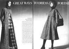 1969 Fashion, Vintage Fashion, November, Vogue, Christian, Leather, Dresses, November Born, Vestidos