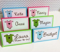 Onesie Food Sign or Guest Place Cards for Baby Shower Party ~~` #Handmade by @adorebynat