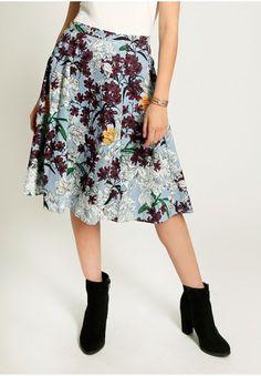 Del Rey Floral Midi Skirt   Modern Vintage Clothing   Ruche