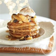 Gingerbread Pancakes with Maple Apple Topping from Pillsbury� Baking