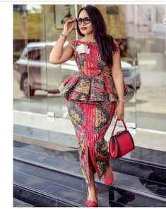 2019 African Fashion: Gorgeous and Trendy Asoebi Styles Ankara Dress Styles, Latest African Fashion Dresses, African Dresses For Women, African Print Dresses, African Print Fashion, Africa Fashion, African Attire, Ankara Fashion, Modern African Fashion