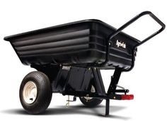 Agri-Fab 350-Pound 8Cu Ft Poly Convertible Push/Tow Heavy Duty Utility Dump Cart