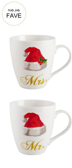 Holly & Jolly Gifts | Pfaltzgraff® Holiday Mr. And Mrs. Set Of 2 Mugs  | Very Merry Gift Guide