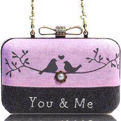 Handcrafted lovebirds bag