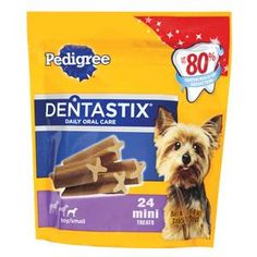 Nice, right? Pedigree Dentastix Mini 8-6 oz.  Check it out here : http://www.allforourpets.com/products/pedigree-dentastix-mini-8-6-oz
