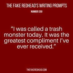 Sign Up For The Newsletter Prompt Library 1-100, 101-200 The complete library of the original writing prompts written byThe Fake Redhead Click To Claim Your 10 FREE Writing Prompts Prompt Library…