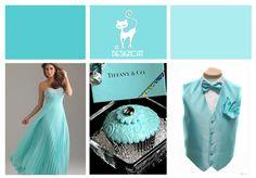 Tiffany Blue Wedding Inspiration Colour Board by Designcat