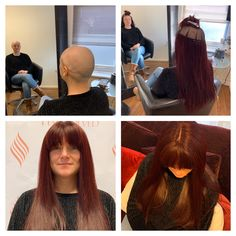 We couldn't be more grateful to our client Laura for allowing us to share some photos of her stunning new system, a lovely deep plum colour, with full fringe perfect for these cold winter months. Plum Colour, Hair Colour, Hair Loss Clinic, Hair Loss Specialist, Hair Loss Reasons, Hello Hair, Full Fringe, Latest Hair Color, Hair System
