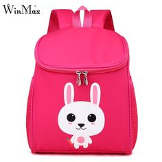 fd4a3ad04ed3 2018 Girls Boys Animal Rabbit Lion School Backpacks Kids 3D Cute Cartoon  School Bags for Children