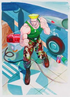 guile (street fighter and street fighter ii (series)) drawn by yasuda akira - Danbooru Street Fighter 2, Street Fighter Tekken, Street Fighter Characters, Game Character, Character Design, Street Fights, Nintendo, Game Art, Cartoon