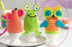 Free pattern for owl egg cozy