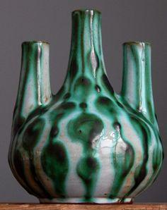 RARE Vintage 60 s MONIKA MAETZEL Chimney Vase West German Pottery Fat Lava Era