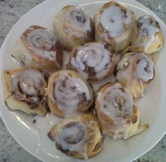 Super simple Yeastless Cinnamon Rolls! I made them for breakfast this morning and they were delicious!