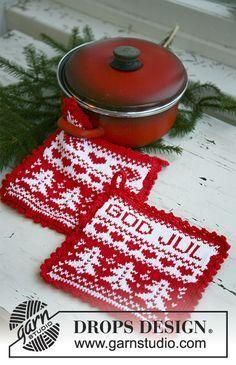 God Jul / DROPS Extra 0-577 - Gratis strikkeoppskrifter fra DROPS Design Swedish Christmas, Christmas Hat, Christmas Knitting, A Christmas Story, Drops Design, Knitting Patterns Free, Free Knitting, Drops Karisma, Norwegian Knitting