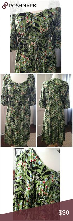 """Fab Green Dress  Off to the Office Adorable, Size 10. New no tags. Length 41"""".  Empire waist. Stretch fabric.  Look Fab an comfortable!   Thanks! Dresses Midi"""