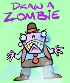 Draw Zombies – Harptoons Slide Images, How To Make Drawing, Step By Step Drawing, Learn To Draw, Coloring Sheets, Zombies, Cool Kids, Make It Simple, Creepy