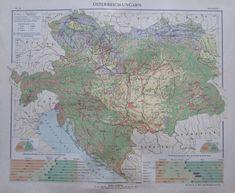 Österreich-Ungarn Bodenkultur - 35x29cm Karte aus 1913 old map