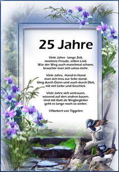 Spruche Silberhochzeit Gluckwunsche Kurz Blumen 25 Jahre Weiterhin