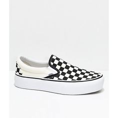 The same classic styling and iconic features you've grown to love from Vans now fit with a new platform silhouette. These new Vans Slip-On Shoes have a Black Slip On Sneakers Outfit, Vans Slip On Black, Vans Slip On Shoes, Skate Shoes, Me Too Shoes, Women's Shoes, Vans Slip On Checkered, Buy Shoes, Vans Classic Slip On