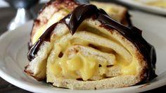 Blogger Amy Erickson puts a creamy, chocolaty dessert spin on the popular Pillsbury Rollwich.