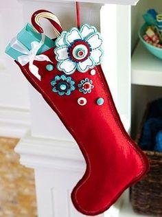フェルトクリスマス靴下作り方