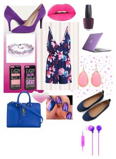 """Untitled #304"" by jollyranchersforeverhashtagblue ❤ liked on Polyvore featuring JFR, Kate Spade, Nine West, Yves Saint Laurent, Speck, OPI, Haze and Sony"