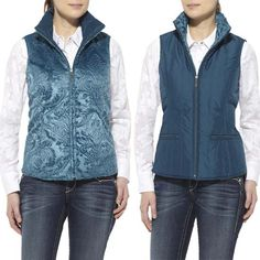 Layer up for winter in this reversible vest from Ariat®!  http://www.tackroominc.com/ariat-womens-bryn-vest-bamboo-p-17357.html
