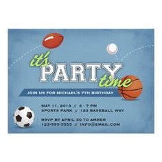 Shop Sports Birthday Party Invitation created by wrkdesigns. Sports Themed Birthday Party, Basketball Birthday, Birthday Parties, Uk Basketball, 3rd Birthday, Birthday Ideas, Create Your Own Invitations, Custom Invitations, Invitation Cards