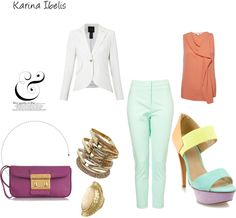My sweet color block, created by karinaibelis on Polyvore