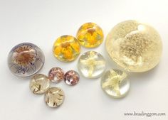 Diy real flower resin jewelry