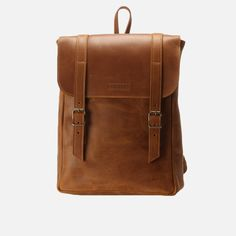 Burgundy - Leather Backpack