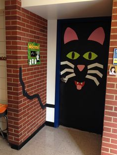 We had a Halloween door decorating contest at the elementary school that I work at. This is how we decorated our door!