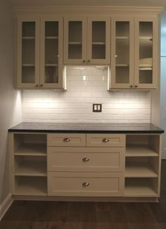 Butler's pantry with lots of storage options