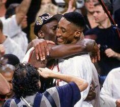 Michael Jordan and Scottie Pippen