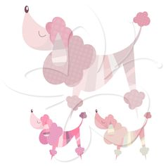 Spoilt Poodles Illustration by Creative Clip Art Collection.
