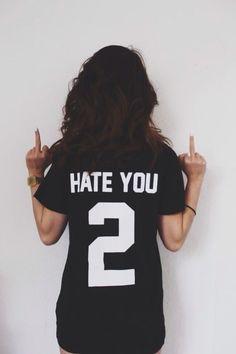 HATE YOU 2 t-shirt A L T E R N A T I V E ♆