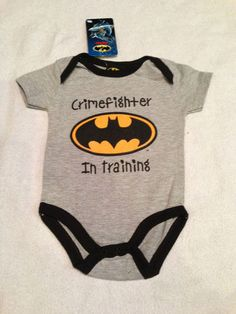 Baby Boy Batman Logo Outfit Onesie Superhero DC Comics Several Sizes | eBay
