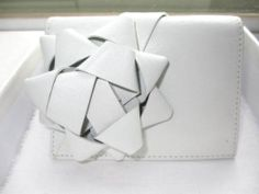 Maison Martin Margiela Line 11 White Leather Wallet Billfold with Bow Detail | eBay