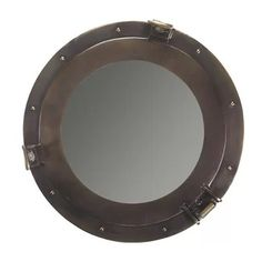 Porthole Mirrors List! Discover the best nautical themed porthole mirrors for your beach home wall decor.