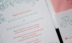 Letterpress Wedding Invitations, Stationery, & Paper Goods - Parrott Design Studio