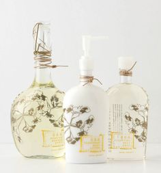 Grown Under Glass beauty products @ anthro | design collaboration btw Anthro & Lurk Design