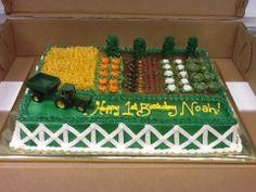John Deere garden birthday cake.