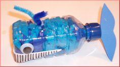 Recursos infantil: Ballenas a partir de botellas de agua
