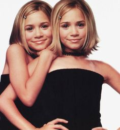 Mary-Kate and Ashley Olsen. no matter how freaky they seem now, I LOVED them (and their movies) when I was young.