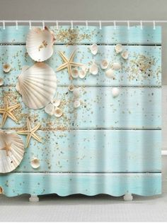 Plank Shell Waterproof Polyester Shower Curtain